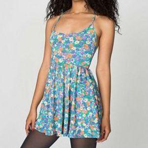 c78ad7b7d7ae84 American Apparel Dresses - American Apparel Nylon Floral Dress (Light Blue)